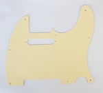 Amercian Standard Tele pickguard 1ply Ivory,Edge is no Bevel,Thickness 2.3mm