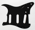 Stratocaster Standard pickguard 1Ply Black,thickness 2.3mm fits fender new