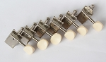 Ivory Button,Stratocaster or Telecaster vintage Machine Head 6 inline Nickel,with 8.3mm bushing ferrule,#DJ271N-IV,DJ271N-IV