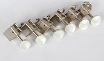 Peal White Button,Stratocaster or Telecaster vintage Machine Head 6 inline Nickel,with 8.3mm bushing ferrule,#DJ271N-SW