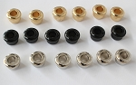 10.8mm,Nickel/Black/Gold option Conversion Machine head Tuner Bushing,Pack 6pcs,Brass material,#HS023