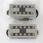 Chrome Open Covered Pickup,Alnico-V,Les Paul Pickup,Neck/Bridge,#FO-325A
