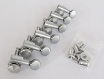 Locking Nut, Satin Chrome Machine Head Tuner, 6 inline Strat Tele Neck,#JN-05LOKSATINCR