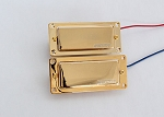 Wilkinson WMH Mini Humbucker Pickup,Gold Cover,with Metal Gold Pickup Ring,Alnico