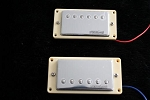 Wilkinson MWCHB hot Humbucker,Neck/Brisge Set,with Curved Ivory Pickup Ring,Chrome,Ceramic