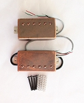 Antiqued Bronze finish Cover,LP covered Humbucker Pickup,Neck and Bridge set,Alnico
