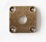 Square Curved Jack Plate,34.8mm*34.8mm,Antiqued Brass