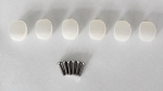 Pack 6pcs,Small Size for 6inline Strat or Telecaster,Pearl White Machine head Button,fit Wilkinson,Schaller,not fit Grover,Gotoh,#S-02