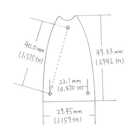 truss rod cover blank for hollowbody rh eyguitarmusic com
