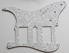 Pear White,Strat 2H/1S(HSH) pickguard,Fits Covered and open Humbucker Pickup