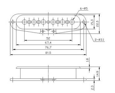 neck middle bridge set single coil pickup bobbin. Black Bedroom Furniture Sets. Home Design Ideas