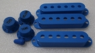 Blue Strat Pickup Cover,Knobs,Tips,inch size, Fits Genuine Fender Strat