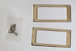 Chrome Metal Flat bottom Les Paul Humubcker Pickup Ring,#LP20,For Flat LP body,Epiphone and most of Asian made guitars