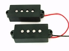 Artec P Bass Bridge Pickup Set 4-String Black,Alnico5