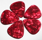 5Pcs* Celluloid Red Pearl Guitar Picks 1.2mm,351 size