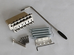 Antiqued Sliver finish,Full size 42mm Zinc Block,Steel Saddles,vintage Style Stratocaster Bridge