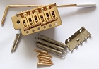 Gold,Strat Tremolo Gutiar BridgeTail,10.5mm string space,with half slope block,SB-001GD