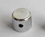 2Pcs*Pearl White Dome Top Knob,Chrome Solid Metal,Screw style,for CTS 1/4