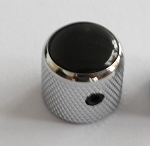2Pcs*Black with few Pearl shine Dome Top Knob,Chrome Solid Metal,Screw style,for CTS 1/4