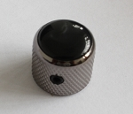 2Pcs*Black with few Pearl shine Dome Top Knob,Black Nickel Solid Metal,Screw style,for CTS 1/4