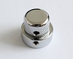 Big Size,Chrome Dual Metal Knob,Screw style Control Knob for Push Pull Potentiometer