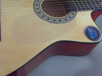 Acoustic Pickguard Scratchplate Clear,Adhesive