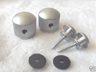 Set* Satin Chrome Metal Knobs for Tele body custom,Metric size