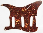 Stratocaster Standard pickguard,Brown Tortoise Shell,fits fender,but no potentiometer mounting holes
