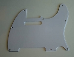 Telecaster '62 pickguard 3ply White fits fender,#U042