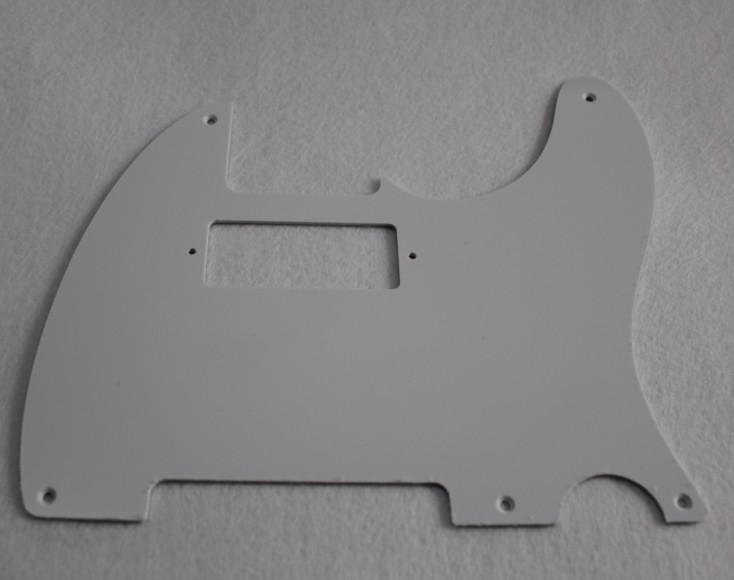 1 ply white 39 52 hot rod telecaster pickguard 5 hole pickup cutout for mini humbucker cc023. Black Bedroom Furniture Sets. Home Design Ideas