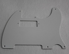 1 ply white '52 Hot Rod Telecaster pickguard,5-hole,pickup cutout for American mini humbucker