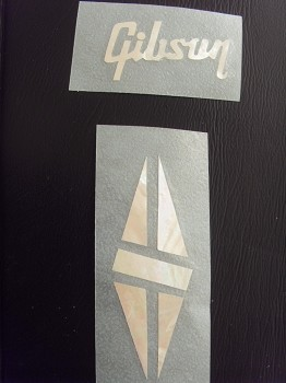 mop logo for gibson sticker with triangle mark les paul custom new002. Black Bedroom Furniture Sets. Home Design Ideas