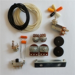 Wiring Kit,for Fender Japan Jazzmaster custom,Pots,Slide Switch,Right Angle toggle switch,bracket,rollder knob,Capacitor,Wire
