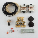 New Wiring Kit,for Jaguar custom,CTS Pots,Switchcraft Jack,Black Slide Switch,bracket,rollder knob,Capacitor,Wire,with 56K Resistor