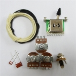 Wiring Kit,for Strat custom,Alpha A250K pot,Level Switch,0.047 and 0.001 capacitor,Wire,#WK-ST64