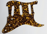Yellow Brown Tortoise,Strat Pickguard,fits American Standard