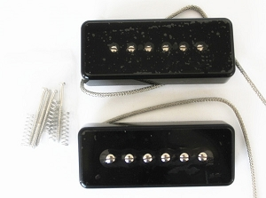 High output,Eric Custom,Black Cover,Neck or Bridge,Soapbar Single Pickup (Alnico5 Bar),with Metal Shield Wire