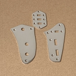 Left hand,Kit,Chrome Plate for Fender Jaguar,slide switch plate,pot plate