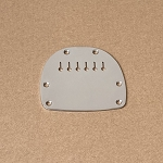 Jazzmaster/Jaguar Tailpiece plate Chrome