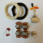 Wiring Kit,for Les Paul LP custom,Alpha A / B 500K pot,3 Way Box Style Switch,0.023 capacitor,Wire
