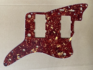 '62 Jazzmaster Pickguard,Red Tortoise Shell,Fits USA Fender