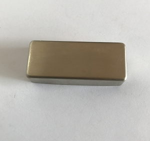 Raw(No Plated) Nickel Sliver Mini Humbucker Pickup Cover