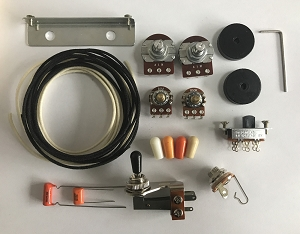 Wiring Kit,for USA Fender Jazzmaster custom, Pots,Slide Switch,Right Angle toggle switch,bracket,rollder knob,Capacitor,Wire