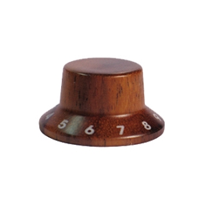 Wood knob with numbers,Bell Shape,Rosewood wood,Push on style Knob