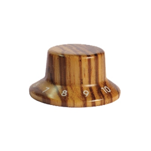 Wood knob with Numbers,Bell Shape,Zebra wood,Push on style Knob