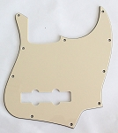 NEW 3 Ply Cream American Standard Jazz Bass Pickguard