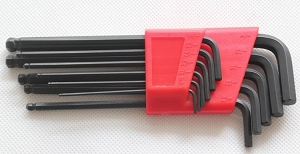 Hex Key Wrenches,S.A.E(Inch) size,Kit of 11pcs,1/20,1/16,5/64,3/32,7/64,1/8,9/64,5/32,3/16,7/32,1/4