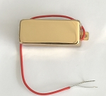 Mini Humbucker Pickup,Gold,Alnico V,1Conduct with shield
