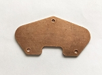 Tele Bridge Pickup Baseplate,Red Solid Brass