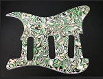 New Green Abalone Material  Strat Pickguard,fits Fender 57' Strat